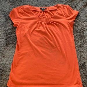 Style & Co orange blouse